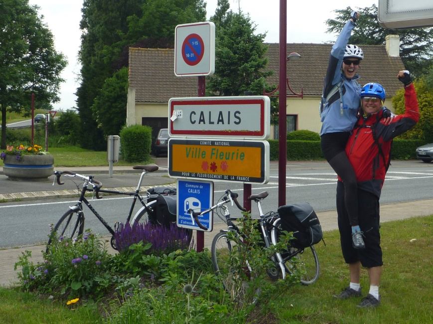 Arriving in Calais!