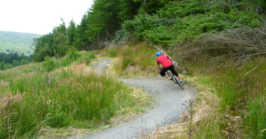 Riding the trails at Carron Valley
