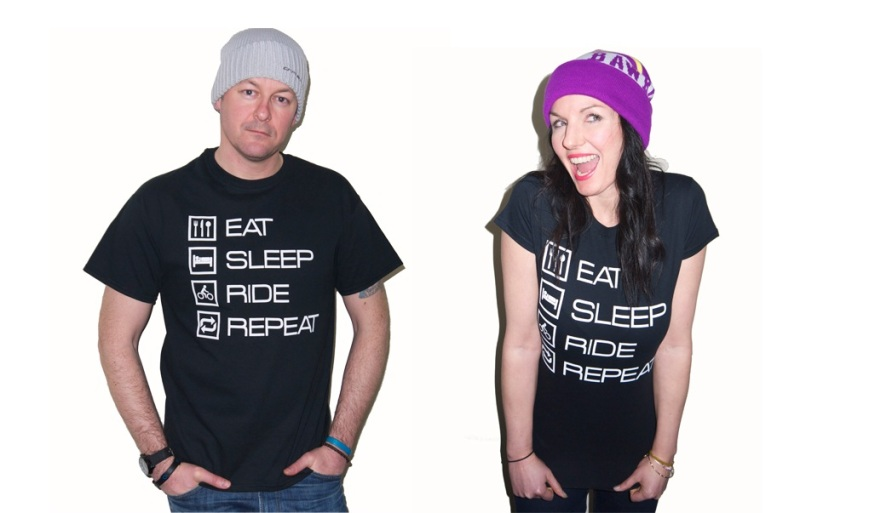 Eat Sleep Ride Repeat t's from Harder Than Stone Clothing.